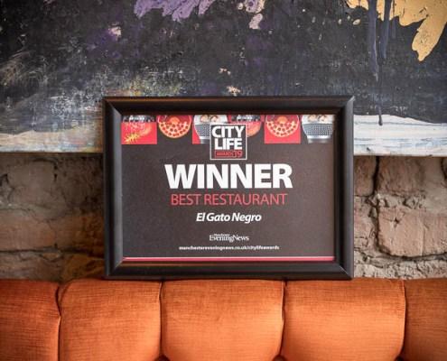 City Life Best Restaurant award square