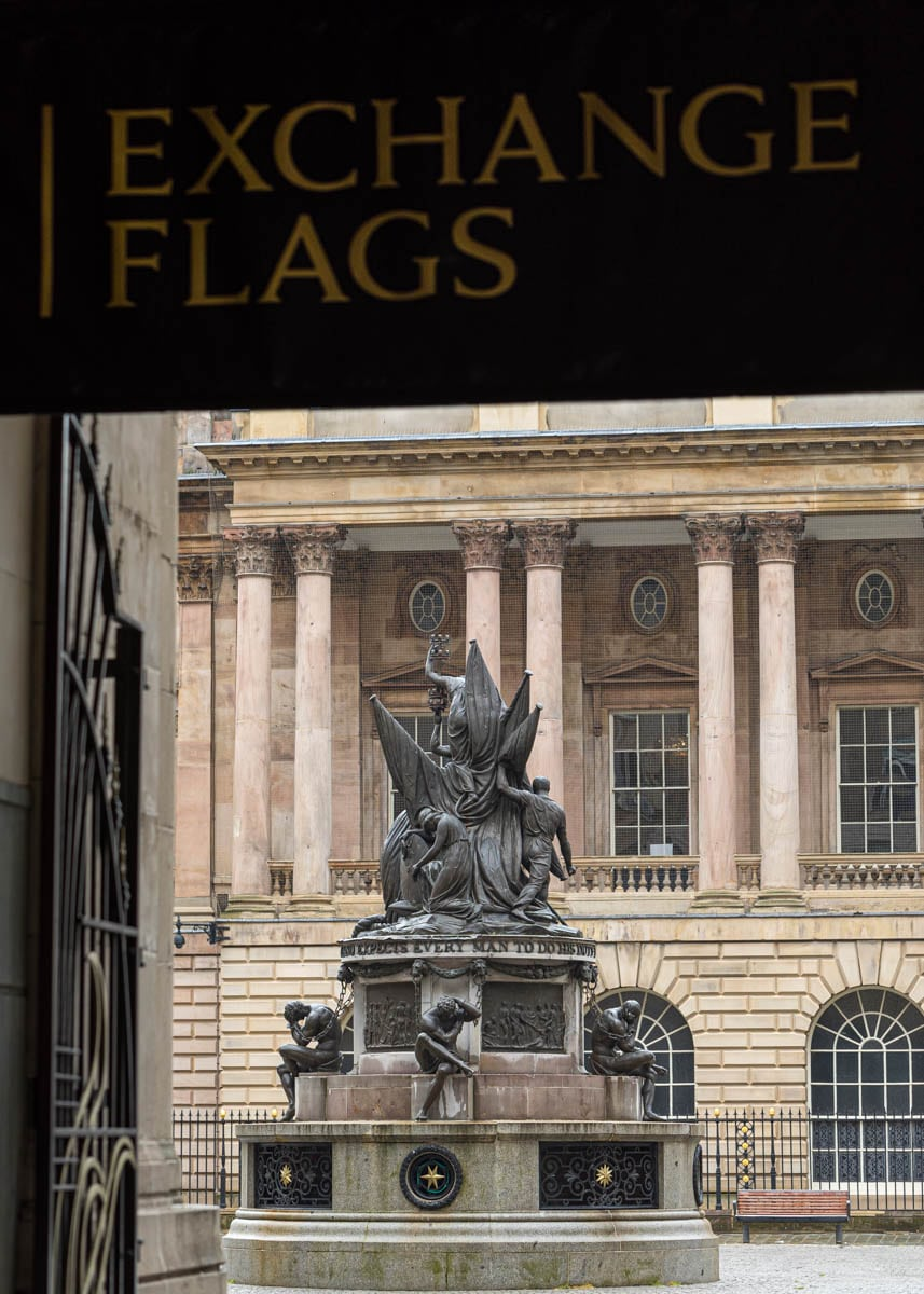 Exchange Flags and Nelson Monument