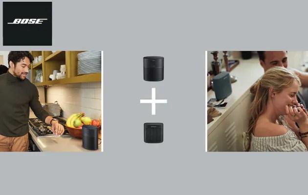 Bose-høyttalere og illustrasjon med SimpleSync