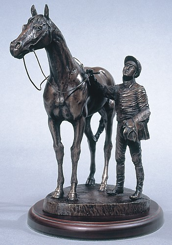 bronze jockey et cheval