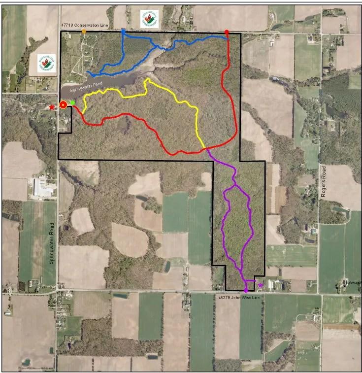 Springwater map