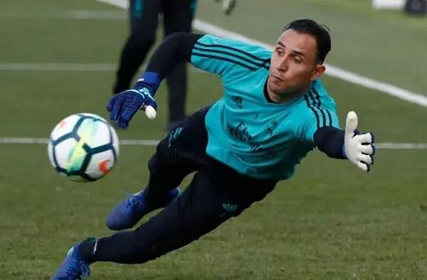 Keylor Navas con el Madrid