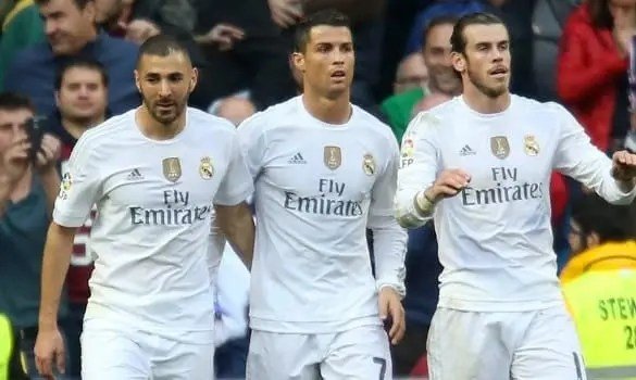 Nuevo tridente del Real Madrid