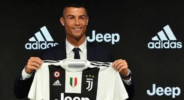 Ronaldo con la Juventus de Turín