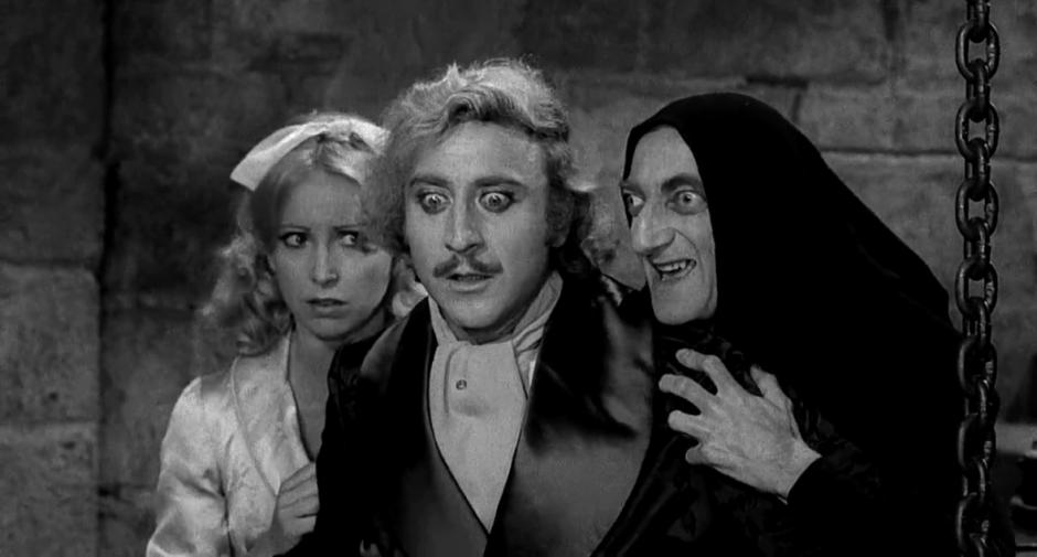"""Un fotograma de la película 'El Jovencito Frankenstein""""."""