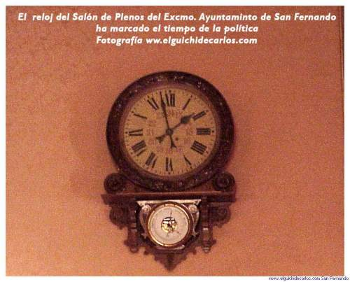 Relojes de San Fernando. Salón de Plenos