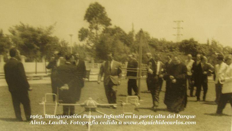 Inauguración del Parque Almirante Laulhé, más conocido como el parque de los patos