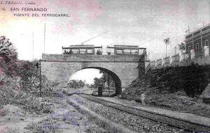 El ferrocarril por el Puente de la Casería