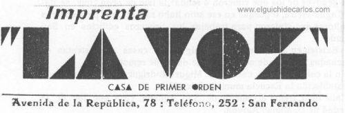 Anuncio en prensa sde 1935