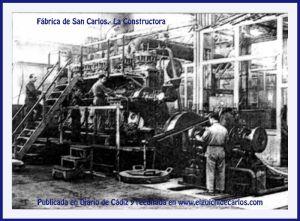 Maquinaria en el Interior de la Fábrica San Carlos - La constructora