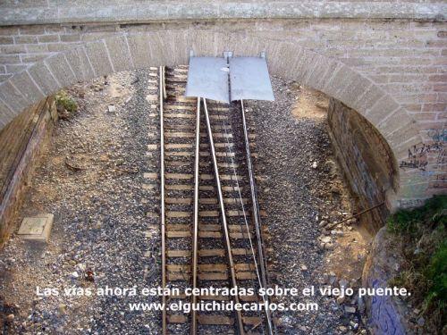 Vía del Tren ebajo el Puente de la Casería
