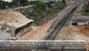 Puente de la Casería. Derrumbe
