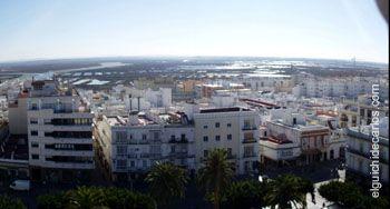 Vista desde la azote del Ayuntamiento de San Fernando