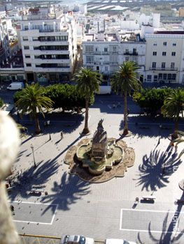 Vista aerea de la plaza del Rey desde la azotea del Ayuntamiento