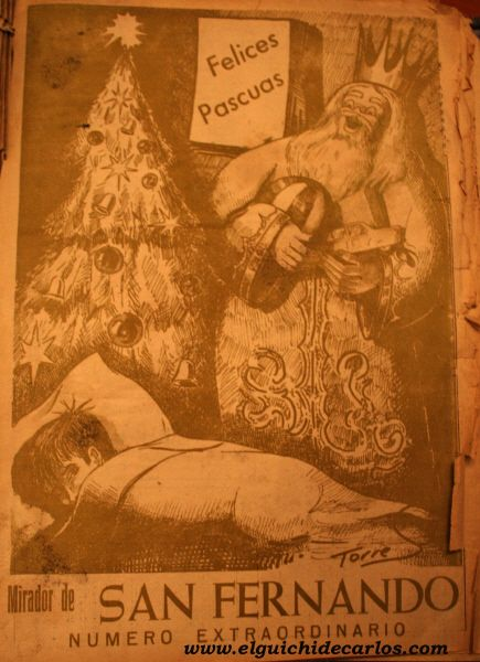 """Felicitación de navidad que editaba el diario """"Mirador de San Fernando"""" por las fiestas navideñas"""