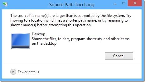 source path too long