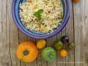 Tabulé de tomates con sabor y aroma de habanero