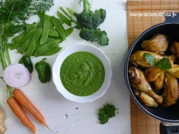 Curry Verde de Pollo: Receta sencilla y homenaje especial