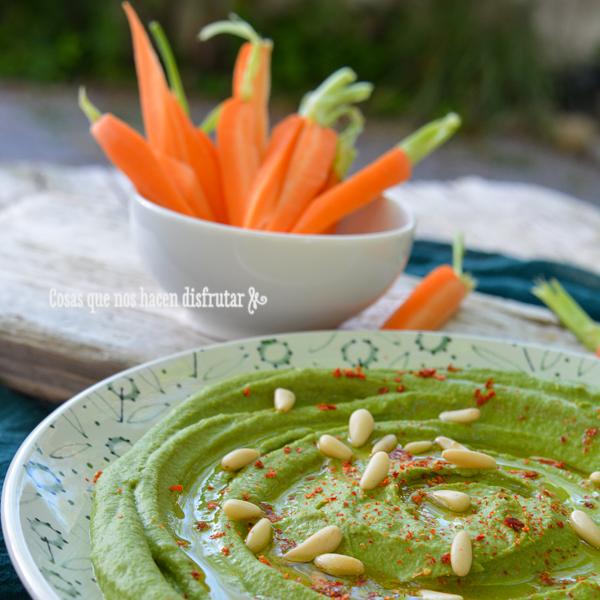 Receta de Hummus de espinacas: El aperitivo ideal.
