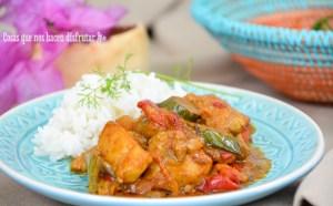 Curry de pollo con verduras, mi receta hindú.
