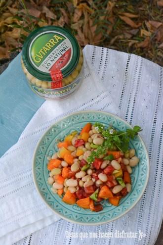 Ensalada de pochas Gvtarra y tomates con sabor