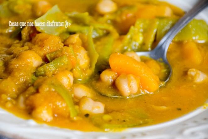 Berza vegana de calabaza y judías verdes by Tía Lou