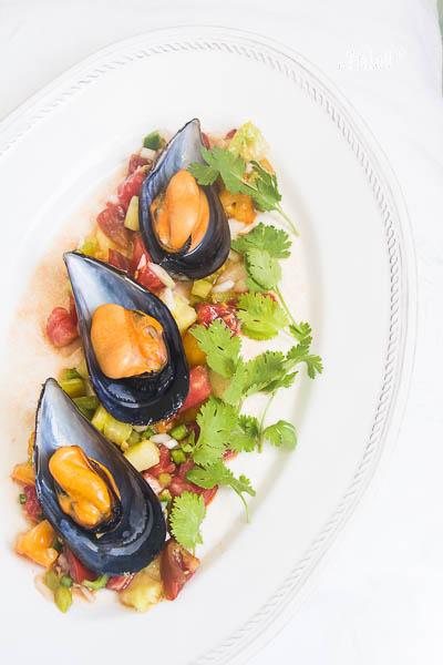 Mejillones con piriñaca gaditana