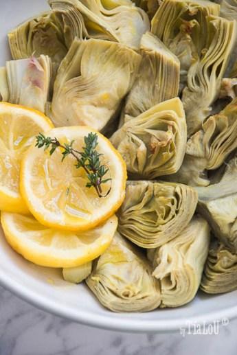 Alcachofas asadas, citricos y tomillo by tia lou-1