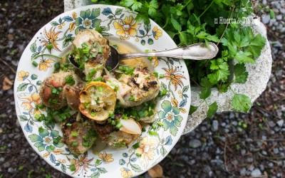 Pollo al horno con ajo y cilantro