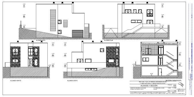 Alzados y secciones utilizados para la realización de las infografías