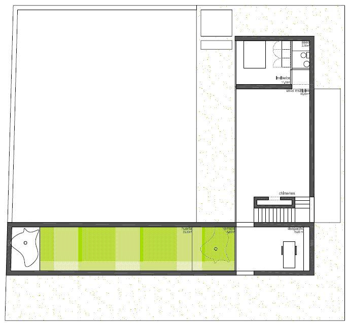 Anteproyecto vivienda en Badajoz. Planta alta