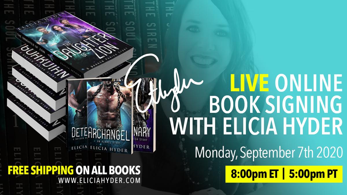 LIVE Online Book Signing!