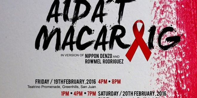 AIDS on stage with Kiriring, Aida't Macaraig