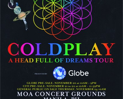 April 2017 will be Coldplay Asian Tour