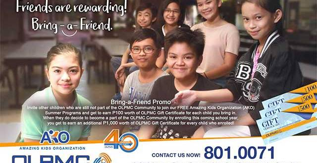 OLPMC Bring-a-Friend Promo