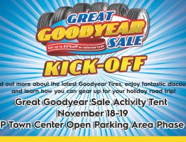 Get new tires at theholiday drive with the Great Goodyear Sale Kick-Off