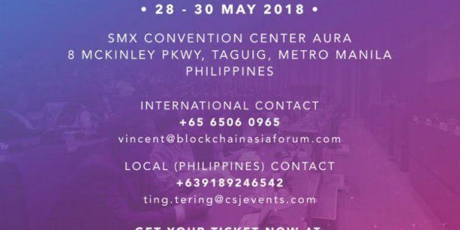 Blockchain applications and Economics Forum 2018 in Manila