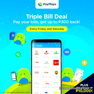 Use your Paymaya in paying your bills and get rebates!