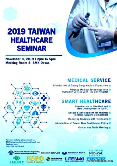 Taiwan Medical Technology Seminar 2019 goes to Mindanao