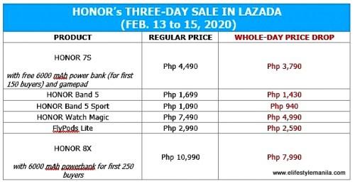 Honor 3 day valentine sale