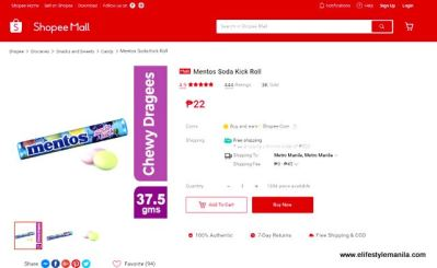 mentos soda kick shopee