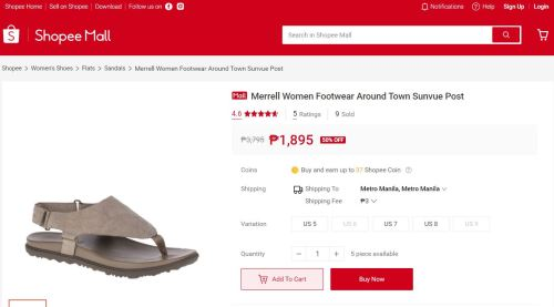 Merrell in Shopee