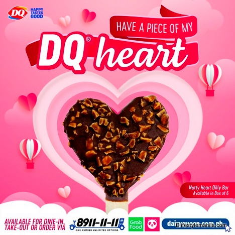 Dairy Queen heart shaped nutty dilly bar