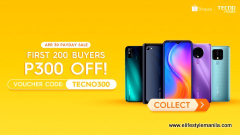 Tecno Mobile Shopee Payday sale in shopee