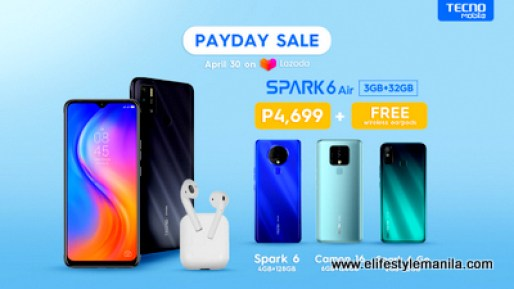Tecno Mobile Payday sale in Lazada