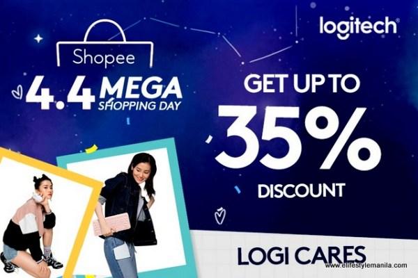 Logitech in Shopee 4.4 Mega Shopping Day Sale