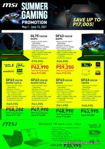 MSI gaming laptop sale