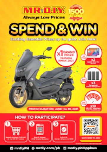 MR. D.I.Y. spend and win promo
