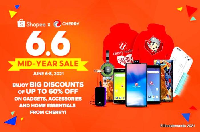 Cherry 6.6 midyear sale in Lazada and Shopee