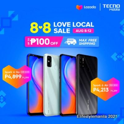 TECNO Mobile in Lazada 8.8 sale